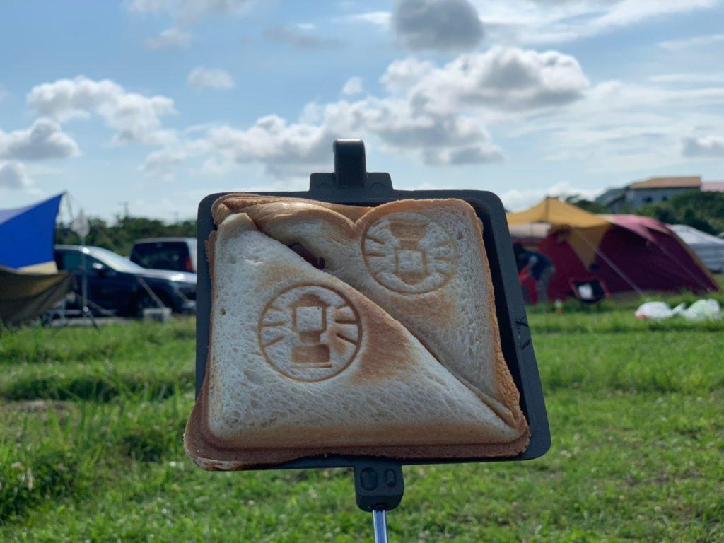 キャンプ朝飯