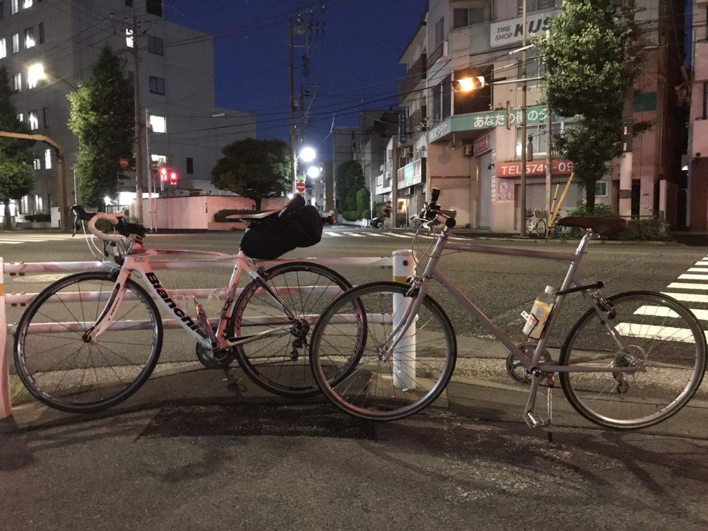自転車キャンプ出発
