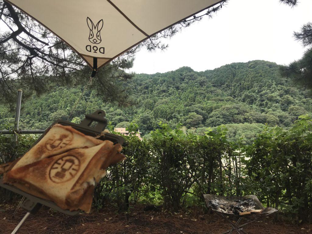 キャンプ朝飯 (2)